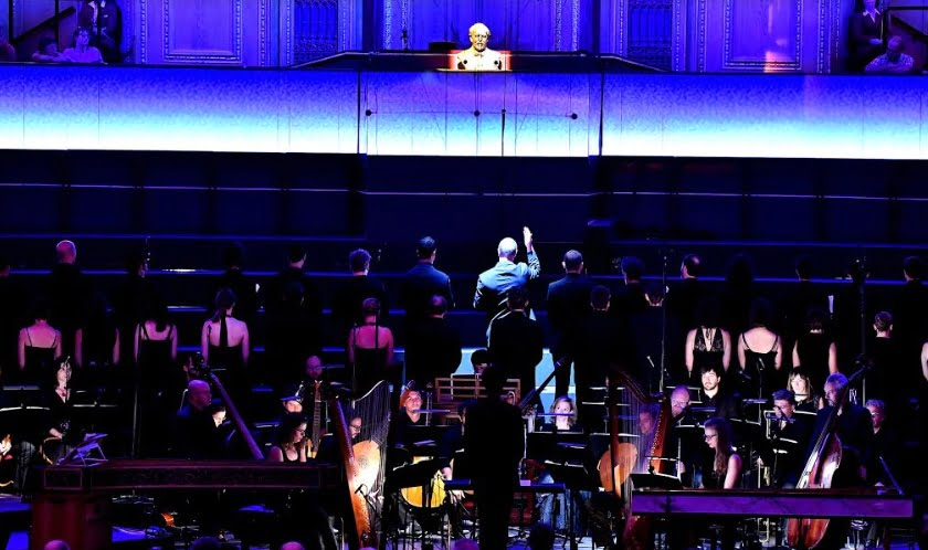 Raphaël Pichon conducts the Ensemble Pygmalion performing Monteverdi's Vespers at the BBC PromsPhotograph: Chris Christodoulou/BBC