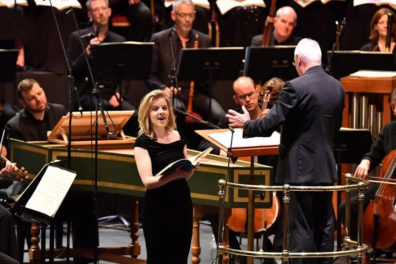 Soprano Rowan Pierce makes her BBC Proms debut in a performance of Handel's Israel in Egypt with the Choir and Orchestra of the Age of Enlightenment, conducted by William ChristiePhotograph: Chris Christodoulou/BBC