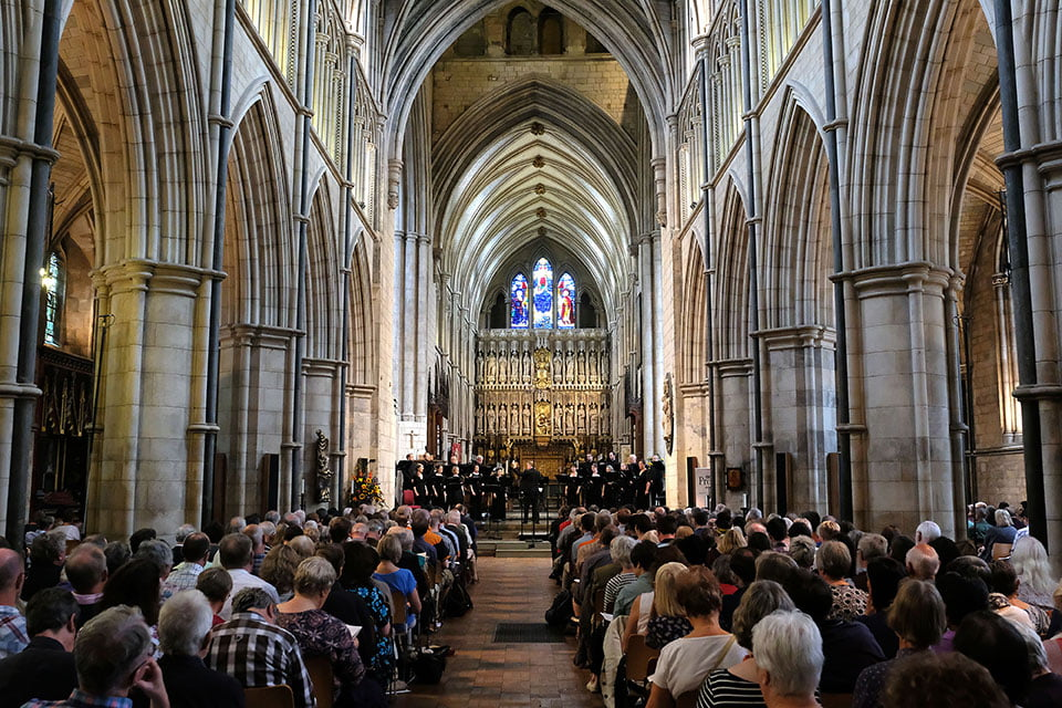 Proms at ... Southwark Cathedral with the BBC Singers conducted by David Hill at the 2017 BBC Proms.Photograph: BBC/Mark Allan