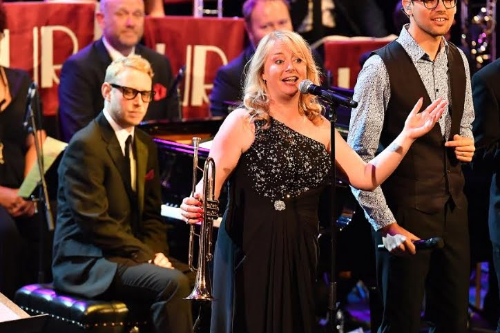 Singer Georgina Jackson performs alongside the Guy Barker Big Band and the Winston Rollins Big Band in Swing No End at the BBC PromsPhotograph: Chris Christodoulou / BBC