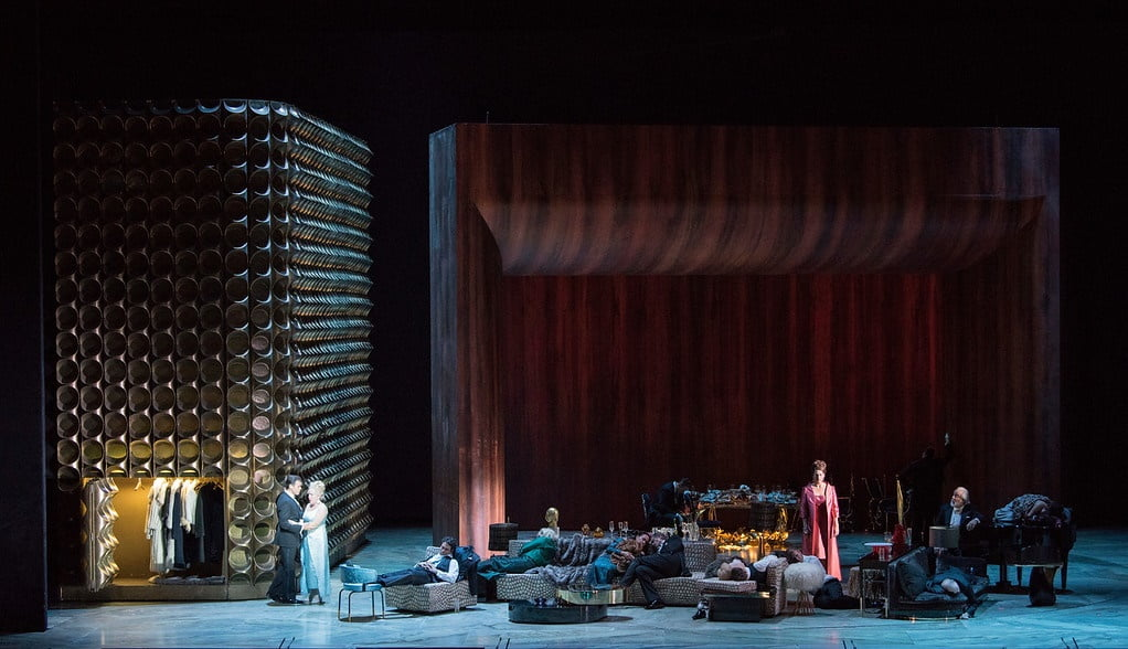 A scene from Act I of Adès's The Exterminating Angel Photograph: Jonathan Tichler/Metropolitan Opera