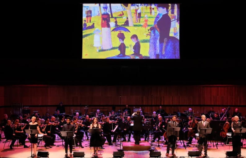 The BBC Concert Orchestra under Keith Lockhart is joined by a range of musical theatre stars in the European premiere of the musical revue, Sondheim on Sondheim, at the Southbank Centre's Royal Festival Hall on Thursday 15 MarchPhotograph: BBC/Mark Allan