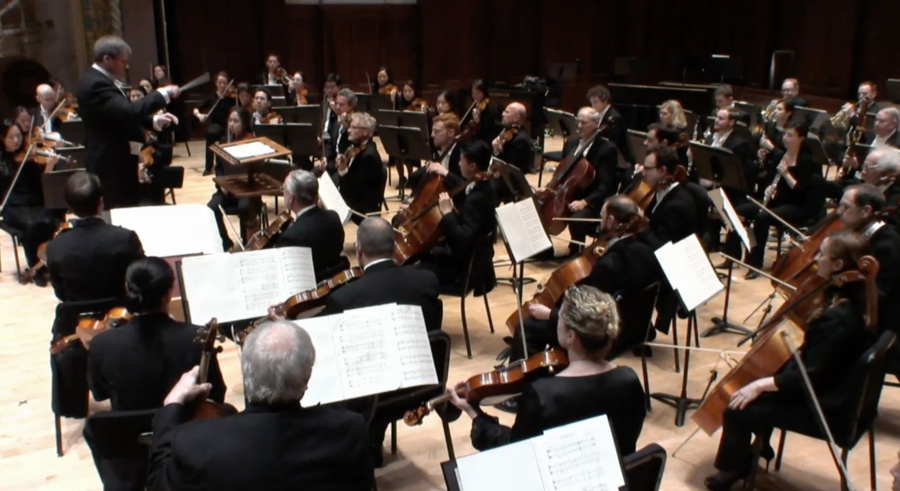John Storgårds conducts the Detroit Symphony Orchestra in Orchestra HallPhotograph: twitter @DetroitSymphony