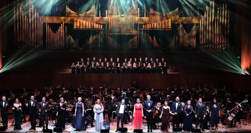 The BBC Concert Orchestra under Larry Blank is joined by a range of musical theatre stars for With a Little Bit of Lerner at the Southbank Centre's Royal Festival Hall on Wednesday 23 MayPhotograph: BBC / Mark Allan