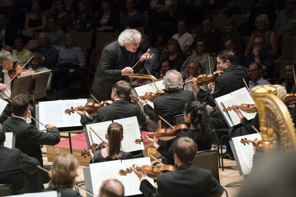 Sir Simon Rattle conducts the Berlin Philharmonic in the Royal Festival HallPhotograph: www.berliner-philharmoniker.de