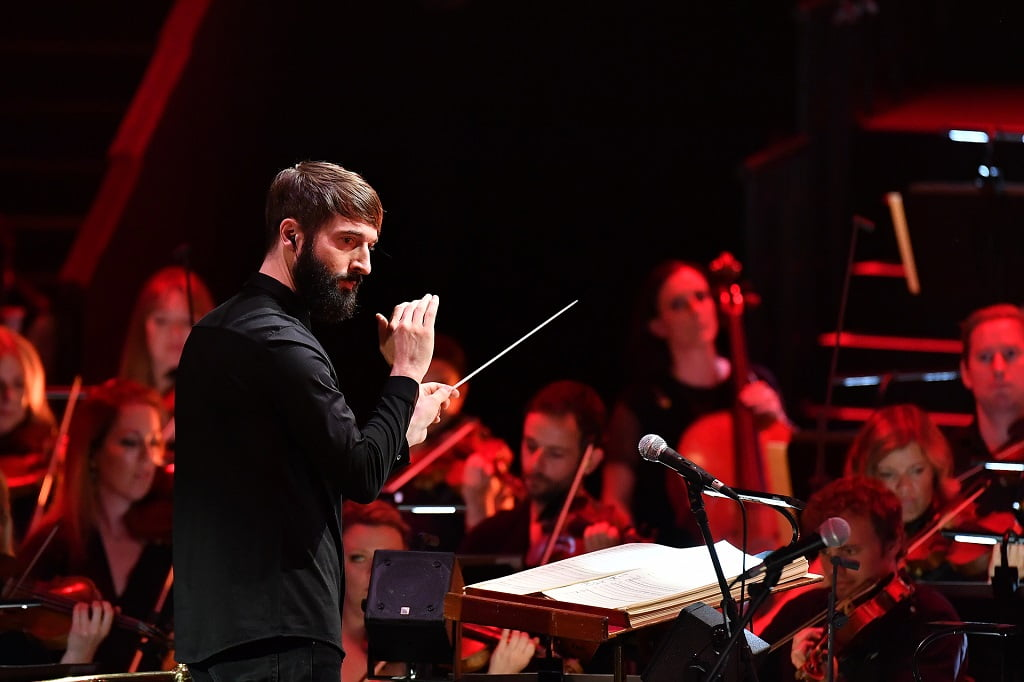Conductor Jules Buckley and the Heritage Orchestra return to the BBC Proms 2018 with New York: Sound of a City. The Prom featured stars from across the Big Apple: Sharon van Etten, serpentwithfeet, Nitty Scott, and Hercules & Love AffairPhotograph: Chris Christodoulou / BBC