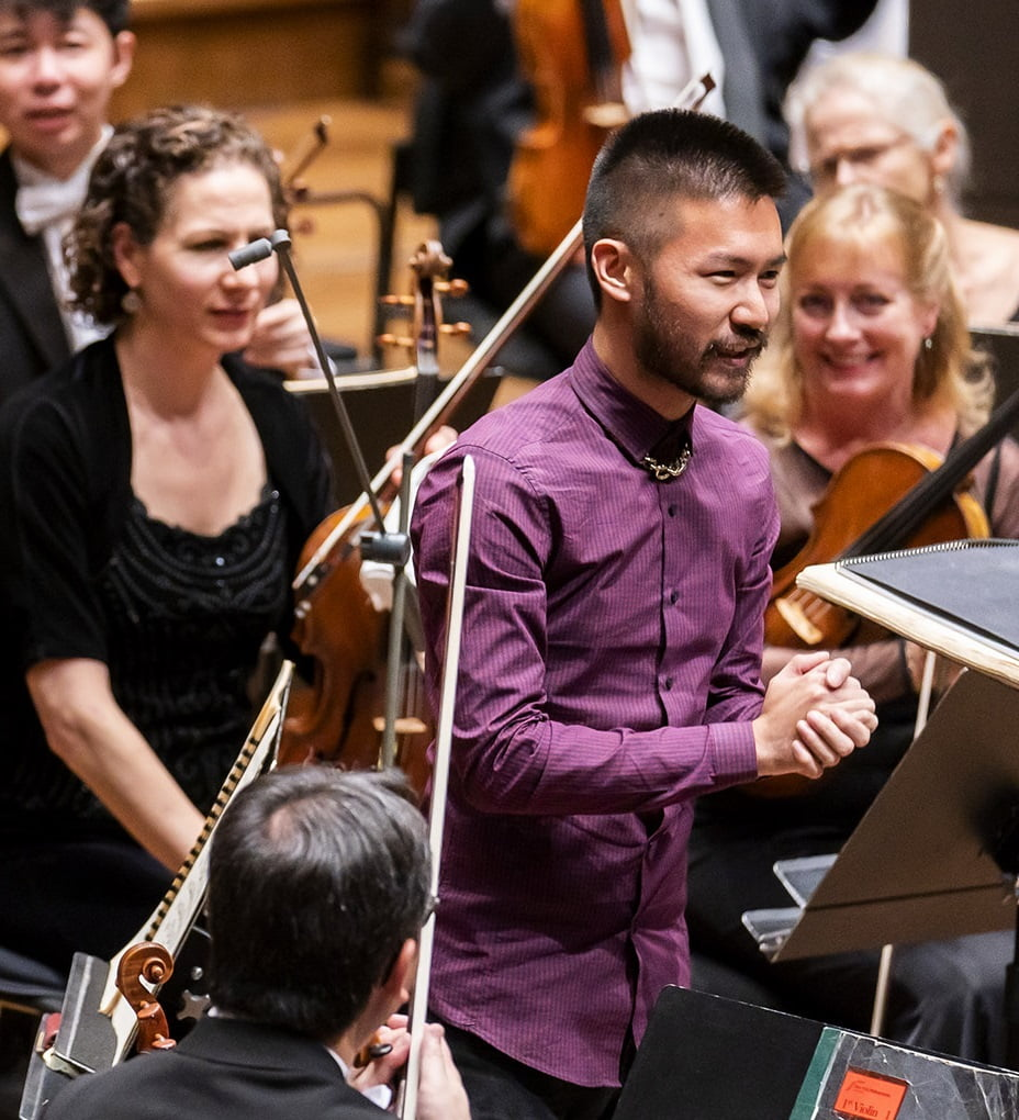 Conrad Tao with the New York Philharmonic in Lincoln Center's David Geffen HallPhotograph: Chris Lee