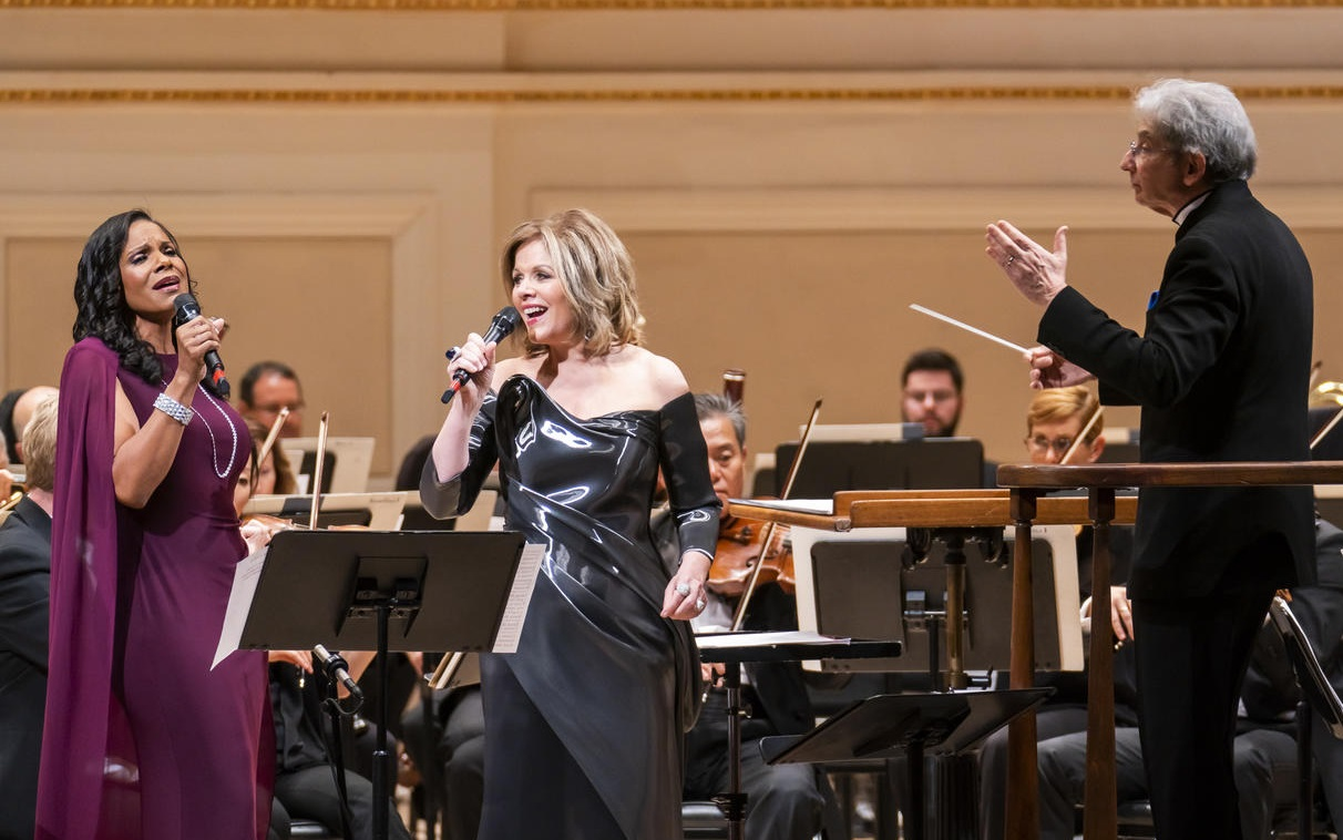 Carnegie Hall's Opening Night GalaMichael Tilson Thomas with Renée Fleming & Audra McDonaldPhotograph: Chris Lee
