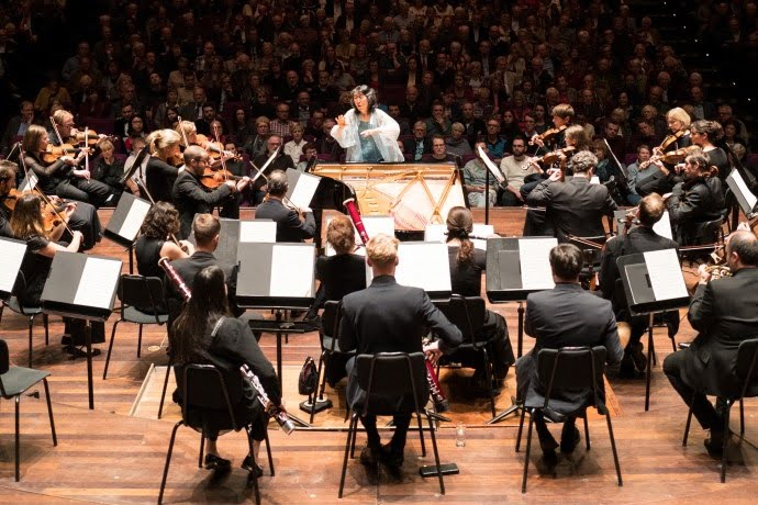 Dame Mitsuko Uchida with the Mahler Chamber Orchestra in Rotterdam during 2016Photograph: © Geoffroy Schied