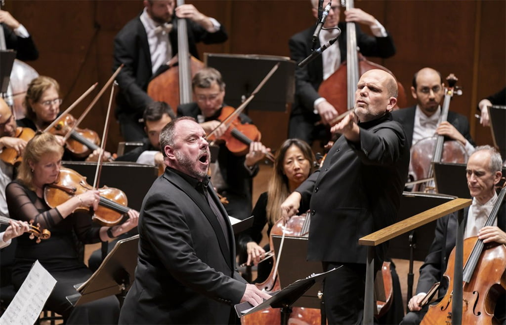 New York Philharmonic – Jaap van Zweden conducts Brahms's German Requiem, with Matthias GoernePhotograph: Chris Lee