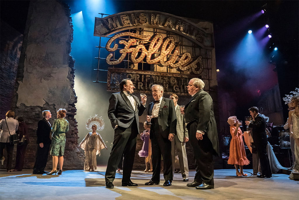 Stephen Sondheim's Follies at National TheatrePeter Forbes (Buddy), Billy Boyle (Theodore Whitman) & Bruce Graham (Roscoe)Photograph: Johan Persson