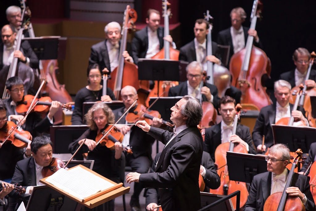 Riccardo Muti conducts the Chicago Symphony Orchestra at Kravis Center for the Performing ArtsPhotograph: Anne Ryan
