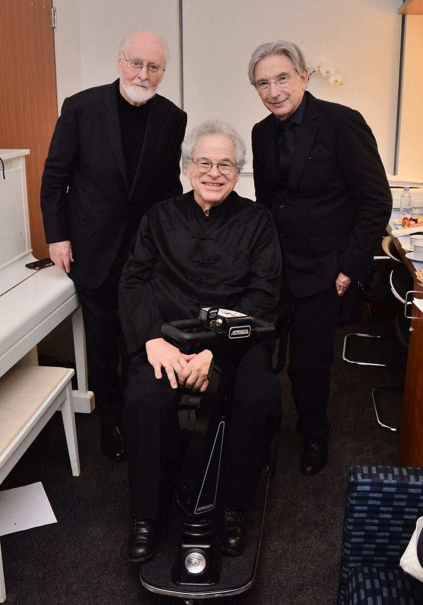 Itzhak Perlman, here with John Williams and Michael Tilson Thomas, on March 2nd, 2019Photograph: Twitter @PerlmanOfficial
