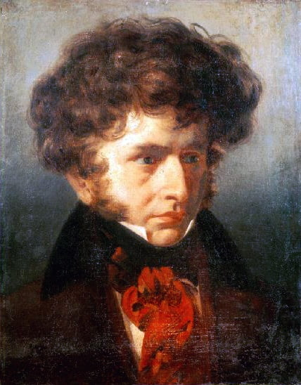 Hector Berlioz (1803-69) when a student at the Villa Medici, 1832