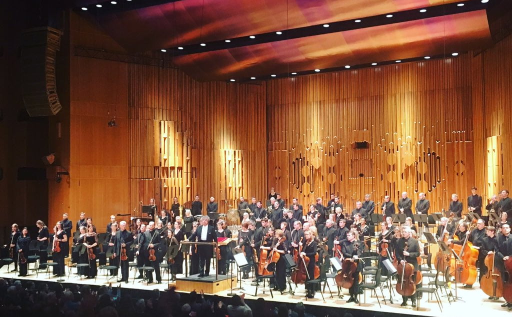 BBC Symphony Orchestra – Semyon Bychkov and BBCSO after performing Symphony 11 (The Year 1905)Photograph: Twitter @BBCSO