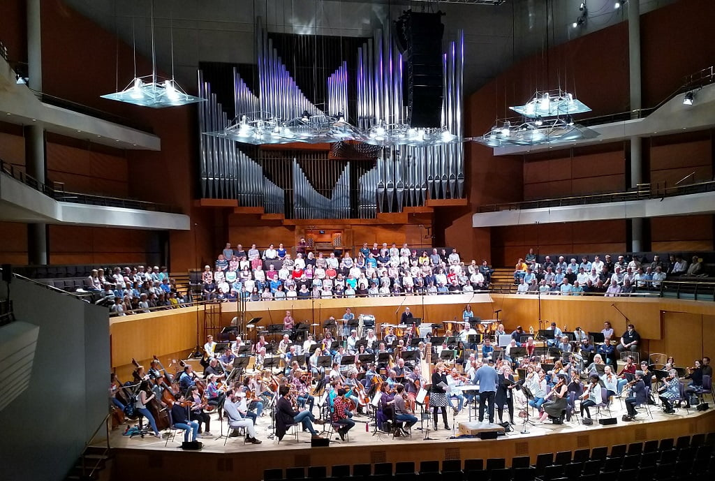 The Hallé at Bridgewater Hall in rehearsalPhotograph: Twitter @the_halle