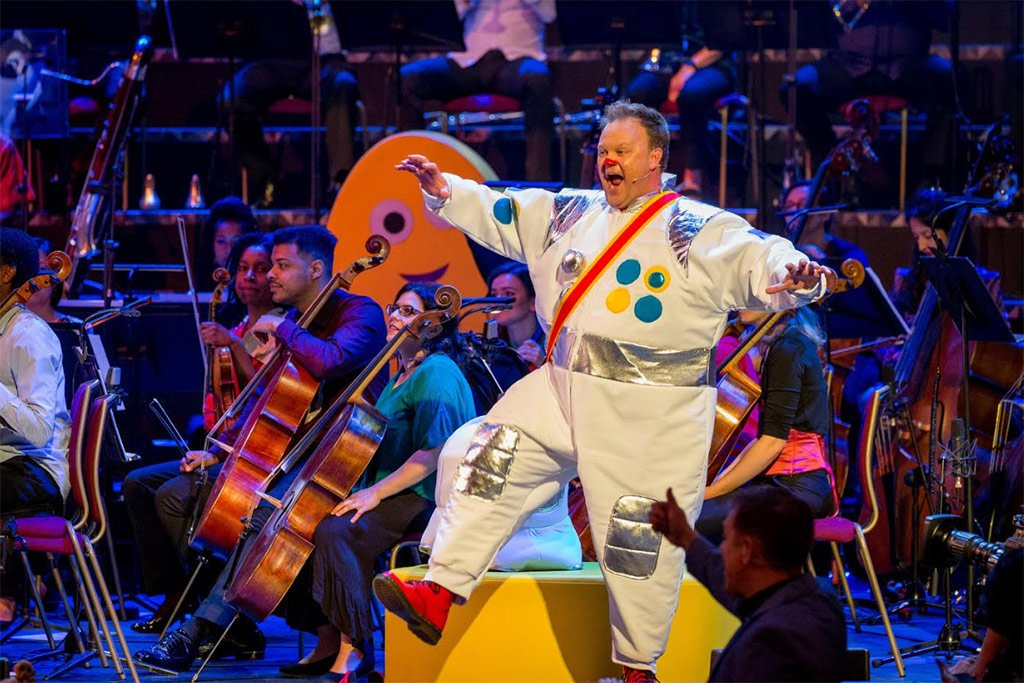 CBeebies: A Musical Trip to the MoonProm 3 of BBC Proms 2019Photograph: Guy Levy / BBC