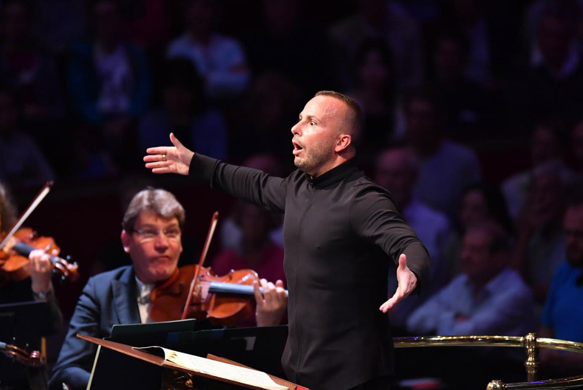 Yannick Nézet-Séguin conducts the Bavarian Radio Symphony Orchestra at BBC Proms 2019's Prom 15Photograph: Chris Christodoulou / BBC