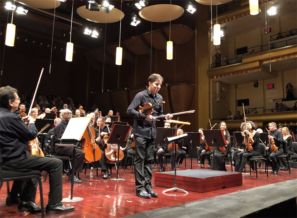 Joshua Bell with Mostly Mozart Festival Orchestra at Lincoln CenterPhotograph: Twitter @PrimoArtists