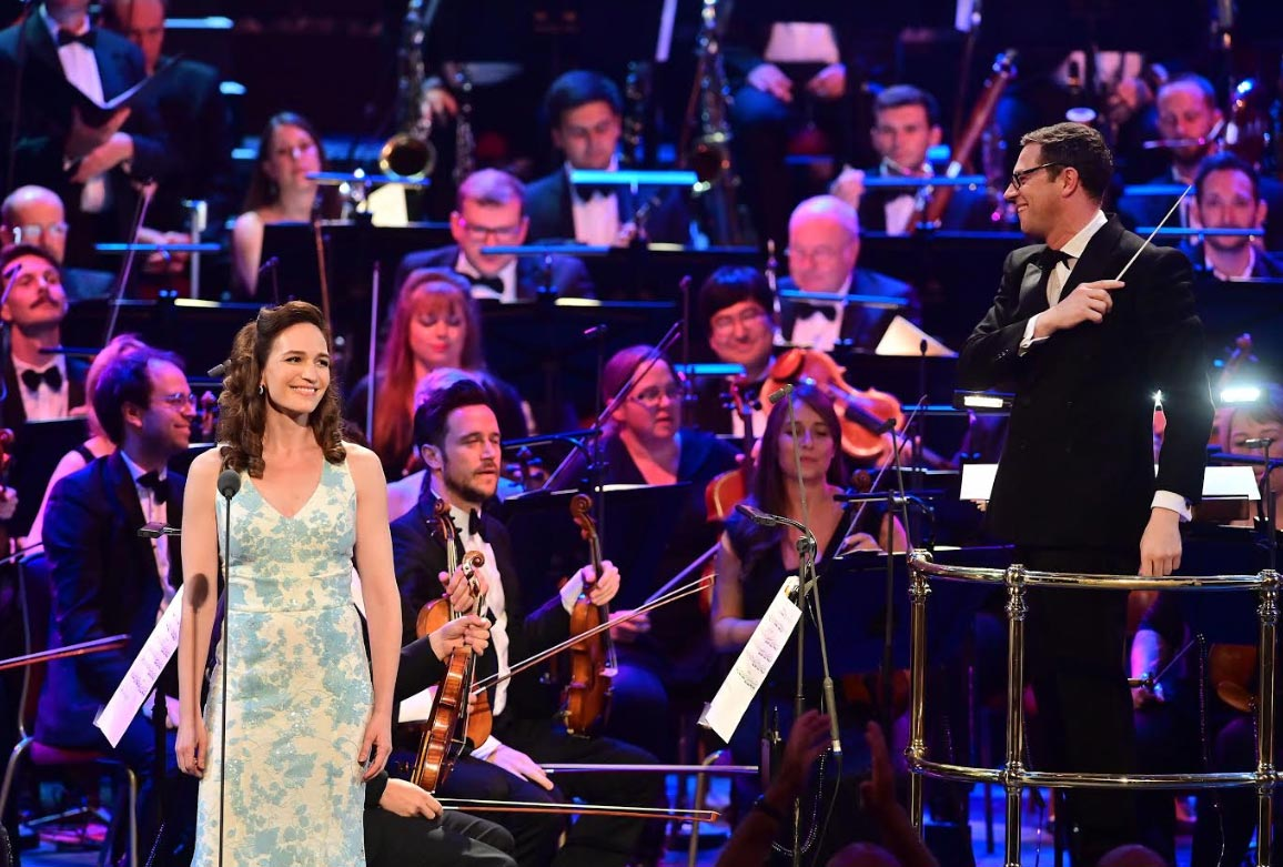 BBC Proms 2019's Prom 29, repeated Prom 30The John Wilson Orchestra first arrived at the Proms in 2009 with musical guns blazing in a programme honouring the MGM film musicals. Now, 10 years later – and having appeared here at the Proms every year since – they turn to the remarkable output of films produced by the Warner Bros. studios during Hollywood's 'Golden Age'. They are joined by a cast of esteemed musical theatre soloists, plus the Maida Vale Singers, who are celebrating their 20th anniversary this yearPhotograph: Mark Allan / BBC
