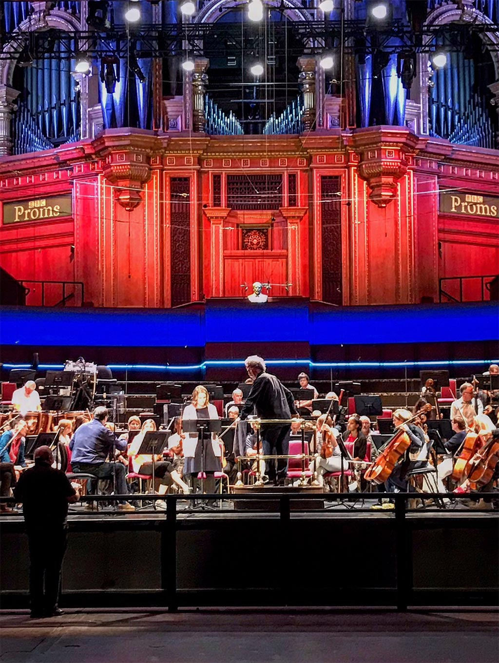 BBC Proms 2019's Prom 33Semyon Bychkov rehearses with BBC Symphony Orchestra with Christina Gansch and Detlev GlanertPhotograph: Twitter @BBCProms