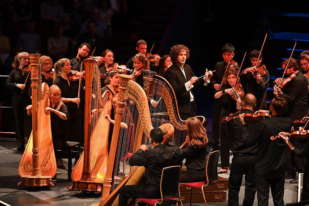 BBC Proms 2019's Prom 72Aurora Orchestra conducted by Nicholas CollonPhotograph: Mark Allan / BBC