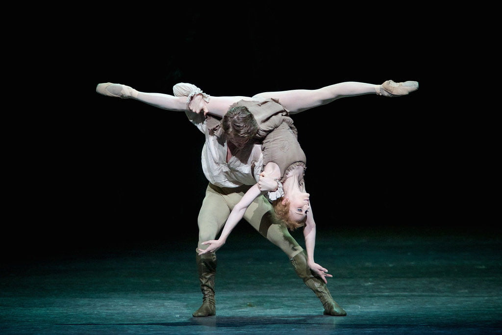 The Royal Ballet – Manon, © ROH, 2014Sarah Lamb and Vadim MuntagirovPhotograph: Alice Pennefather