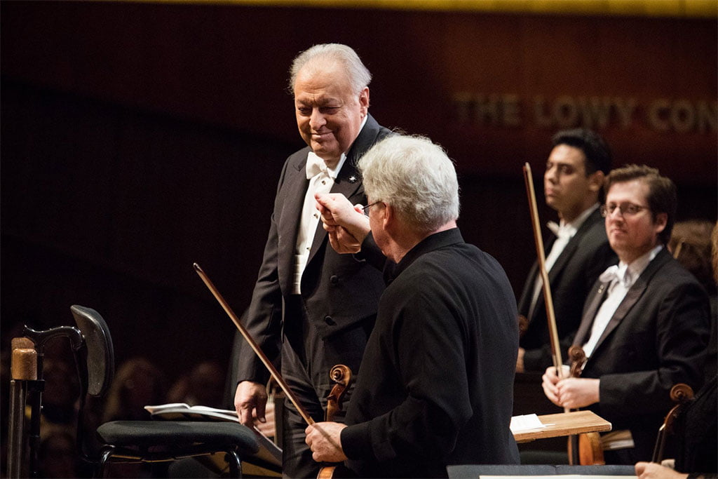 Israel Philharmonic Orchestra – Zubin Mehta & Pinchas ZukermanPhotograph: www.facebook.com/israel.philharmonic