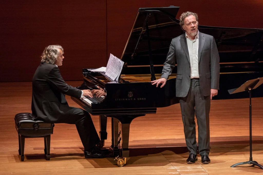 Gerold Huber, left, with the baritone Christian Gerhaher in recital at Alice Tully HallPhotograph: Stephanie Berger