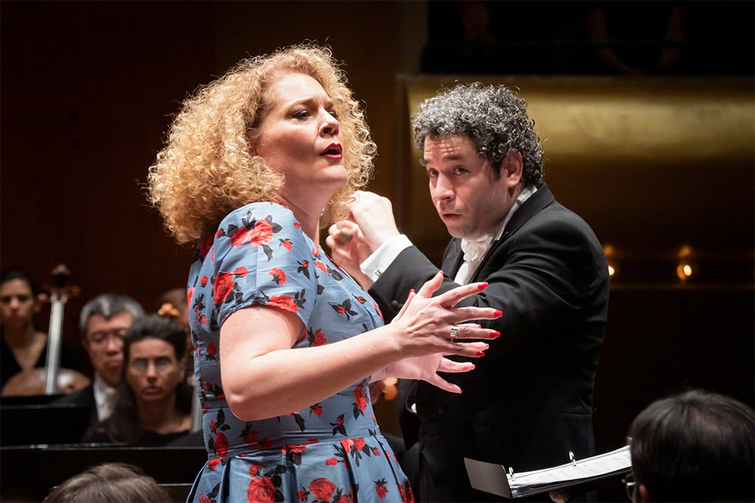 New York Philharmonic – Gustavo Dudamel conducts Gustav Mahler's The Song of the Earth with Michelle DeYoungPhotograph: Twitter @GustavoDudamel