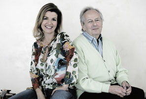 André Previn and Anne-Sophie Mutter in 2006. ©Harald Hoffmann/DG