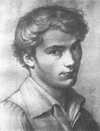 Franz Schubert (1797-1828) aged 16 in a drawing by L. Kupelwieser