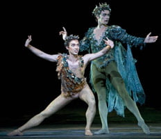 Ivan Putrov as Oberon and Ludovic Ondiviela as Puck in 'The Dream'. ©Bill Cooper