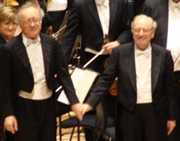 Alfred Brendel & Sir Charles Mackerras at the Royal Festival Hall on 12 October 2008
