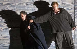 Gerald Finley as Captain Balstrode & Stuart Skelton as Peter Grimes. ©Clive Barda