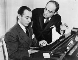Richard Rodgers (seated) with Lorenz Hart