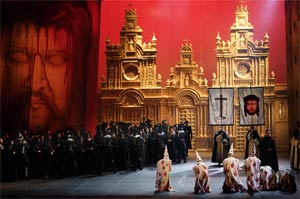 The Royal Opera's Don Carlo, Act III, Part II. Photograph: Catherine Ashmore