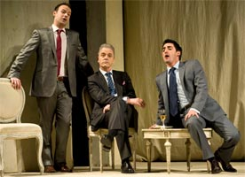 Troy Cook as Guglielmo & Charles Castronovo as Ferrando with William Shimell as Don Alfonso (centre). Photograph: Richard H Smith