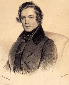 Robert Schumann (1810-56) in a lithograph by Josef Kriehuber, in 1839