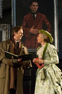 Matthew Hargreaves as Leporello & Laura Mitchell as Donna Elvira at Opera Holland Park. Photograph: Fritz Curzon