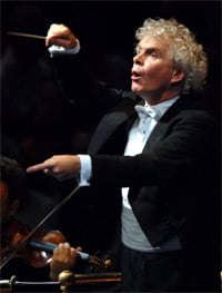 Sir Simon Rattle at the BBC Proms. Photograph: BBC/Chris Christodoulou