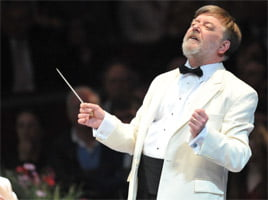Sir Andrew Davis at the BBC Proms. Photograph: BBC/Chris Christodoulou