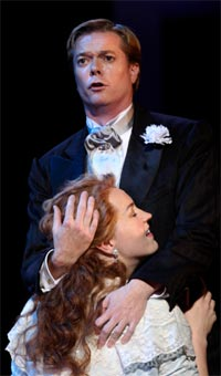 Toby Spence as Faust & Melody Moore as Marguerite (Faust, ENO, 2010). Photograph: Catherine Ashmore