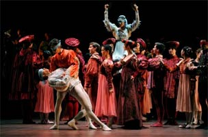 Romeo & Juliet, Wheel of Fortune (English National Ballet). Photograph: Annabel Moeller