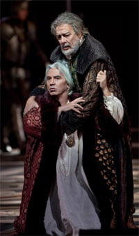 Dmitri Hvorostovsky as Simon Boccanegra & Ferruccio Furlanetto as Jacopo Fiesco(Metropolitan Opera, January 2010). Photograph: Marty Sohl