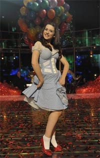 Danielle Hope as Dorothy (The Wizard of Oz, London Palladium). Photograph:  The Really Useful Group Limited 2011