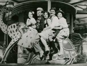 L to R: Tilly Losch, Fred Astaire, Adele Astaire, Frank Morgan, Helen Broderickfrom the original 1931 Broadway production of The Band Wagon. Photograph: www.lostmusicals.org