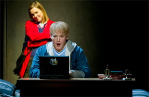 Mary Bevan as Rebecca & Nicky Spence as Brian (Two Boys, ENO, June 2011). Photograph: Richard Hubert Smith