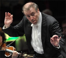 Valery Gergiev conducts the Orchestra of the Mariinsky Theatre on 15 August at the BBC Proms 2011. Photograph: BBC/Chris Christodoulou