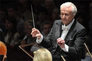 Sir Colin Davis at the BBC Proms 2011. Photograph: BBC/Chris Christodoulou